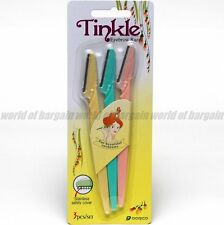 3 pcs TINKLE EYEBROW RAZOR Face Eye Brow Hair Removal Trimmer Blade Shaver B026