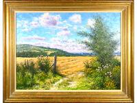 Mervyn Goode - 'Fresh Summer Day, The Downs' - Oil on Canvas, Landscape England