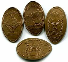 Magic Kingdom Adventureland Area Collection Of 4 Copper Souvenir Pressed Pennies