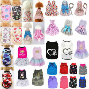 Pet Dog Cat Clothes Summer Puppy T Shirt Small Dogs Skirt Dress Chihuahua Vest