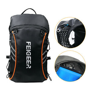 Black Hydration Pack Hiking Rucksack Bag Travel Cycling Backpack Water Blader
