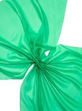 25 % Rabatt:  Seidenstoff Pongé 08, maigrün, 90 cm breit, Meterware (€ 14,10/m)
