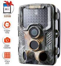 20 MP Wildkamera 32GB SD Card 47pcs 940 nm IR-LEDs Wasserdichter Jagdspielkamera