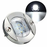 12V LED Round Marine Stainless Steel Courtesy Boat Navigation Light