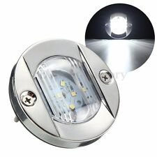 12V LED Round Marine Stainless Steel Courtesy Boat Navigation Light Waterproof
