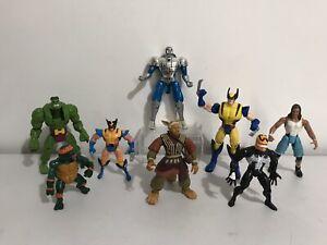 Vintage 90s Toys Action Figures Bundle Toy job lot marvel Tmnt Figure Set