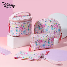 Cartoon Disney Princess PU Leather Pink Make Up Cosmetic Novelty Travel Bag