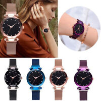 Womens Watch Starry Sky Diamond Dial Women Bracelet Watches Magnetic Stainless