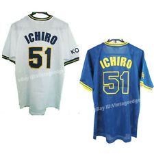Japan 1991-2000 Ichiro Suzuki #51 Orix Blue Wave Baseball Jersey Embroidered