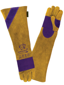 High Quality Extra Long Double Palm Panther Welders Gauntlets Welding Gloves