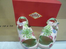 new girls toddlers Oilily flower sparkle bead canvas sandals shoes 27 with box