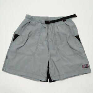 ZOIC Vapour Mens Padded Bike Shorts Sz XL Gray Nylon MTB Cycling Hiking Pockets
