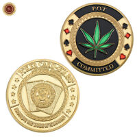 "WR Casino Poker Chip Coin Card Guard Protector With Plastic Case ""POT COMMITTED"""