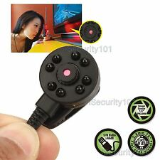 Micro Mini Hidden Color Audio Spy CCTV Camera Pinhole Night Vision