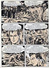 BOB LEGUAY METAMORPHOSE PLANCHE ORIGINALE TIM L'AUDACE ANNEES 1950 PAGE 14