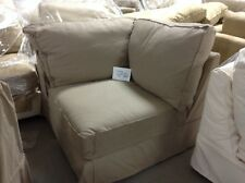 Pottery Barn Comfort Sofa Sectional CORNER BOX POLY cover Walnut Washed Linen