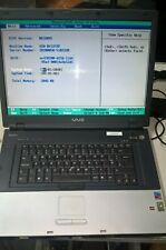 Sony Vaio VGN-BX197XP, Intel Pentium M @ 2.00GHz, 2GB RAM, NO HD, NO CADDY