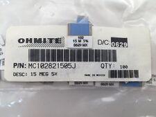 (3 pcs) MC102821505J Ohmite, 1.5 Watt 15M Ohm 5%, Metal Film Resistor,(SMD/SMT)
