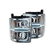 RECON 264296CLC Chevy Silverado 2500/3500 14-15 Clear-Chrome Headlights