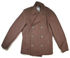 I. Spiewak & Sons Quilted Insulated Double-breasted Pea Coat Brown Size S