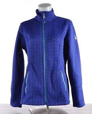 Spyder Women's Major Cable Stryke Jacket Full Zip Sweater SMALL Blue 186406 NWT