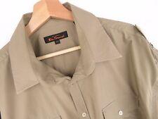 al1738 Ben Sherman Camisa Top beis Original Premium Talla 2x