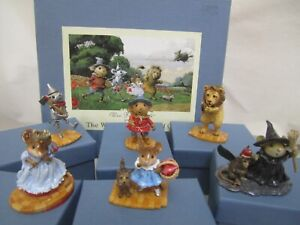 LOT 6 Wee Forest Folk WWF The Wonderful Wizard of Oz Set Signed # 496/500 LOT