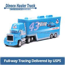 Disney Pixar Cars Dinoco King's Mack Hauler Truck 1:55 Diecast Toys Car Loose