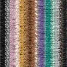 NORO ::Taiyo #104:: cotton silk wool yarn Black-Gold-Jade-Rose-Violet-Browns
