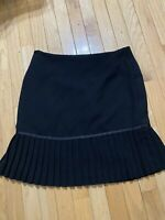 Women's Size 8 Fit And Flare Black Pleated Knee Length Skirt