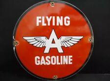 Altes Flying Gasoline Emailschild Blechschild Tankstelle Texaco Gulf Shell