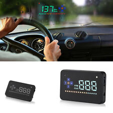 "Head Up Display 3.5"" A2 GPS Car Overspeed Warning Speedometer Cigarette Port HUD"