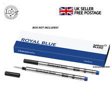 Montblanc Rollerball Blue Refill Ink Cartridge x 2 - M 710 124504 Free Postage