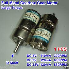 DC 5V-12V 850RPM Powerful High Torque Electric Gear Box Motor Speed Reduction