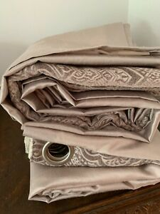 Curtains Art Deco Silver colour  90in x 45in good condition used