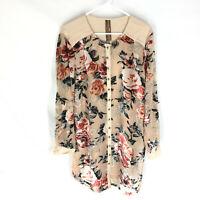 NEW Aratta Silent Journey Anthropologie Sheer Velvet Floral Jacket Dress Size M