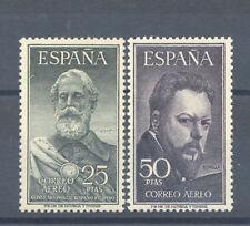 1953 LEGAZPI Y SOROLLA CERTIFICADO GRAUS EDIFIL 1124/25 ** MNH GRAN LUJO TC10996