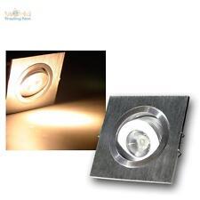 10er Set LED-Einbaustrahler 1W 230V, ALU Einbauleuchte Einbau-Deckenleuchte Spot