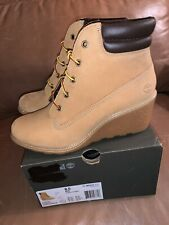 NIB Timberland Amston 6 Inch Womens' Boots Wheat tb08251a - right 8 / left 8.5