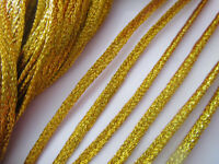 3 METER  FLAT Kordel gold Borte 4mm Nähen nur 1 euro