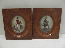 Lupenmalerei 2 alte Bilder Wirte Gastwirte Bierausschank