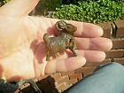 Hand Carved wood netsuke Horned Goat with leg up collectable boxwood figure  1