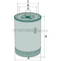 HF6554 pas f MANN Hydraulik-// Getriebölfilter WH945 Fleetguard-Nr