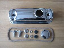 CLASSIC MINI CHROME ROCKER COVER A SERIES WITH CAP GASKET AND T BARS *NEW*