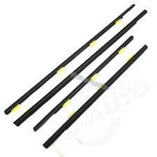 4pcs FL FR RL RR Outside Black Window Door Belt Weatherstrip Fit For CRV 02-06