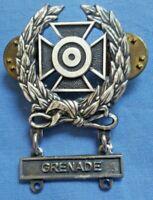 WW2 WWII U.S. Military Marksman GRENEDE Badge Lapel Pin Vintage ORIGINAL