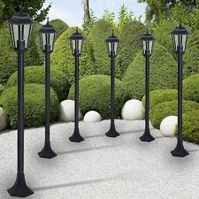 Outdoor Lamp Posts Set 6 Garden Porch Lights Antique Patio Driveway Lighting Old