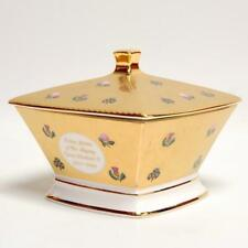 "Bilston & Battersea Qe Ii Golden Jubilee Bone China Lidded Box ""Cloth Of Gold"""