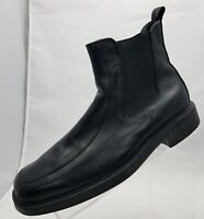Dockers Ankle Boots Apron Toe Black Leather Pull On Mens Shoes Size 9.5M