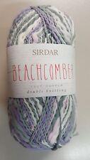 Sirdar Beachcomber #259 Lavender Sky - Grey Lilac & White 50g 100 Cotton